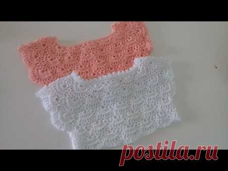 Canesu tejido  a crochet -  paso a paso - cualquier talla