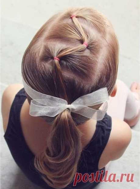 Hairdresses for beloved daughters by means of elastics \ud83c\udf80