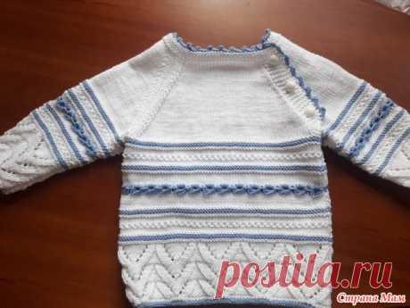 . Онлайн по костюму на выписку из роддома (часть 1 - кофта) - Вязание для детей - Страна Мам
