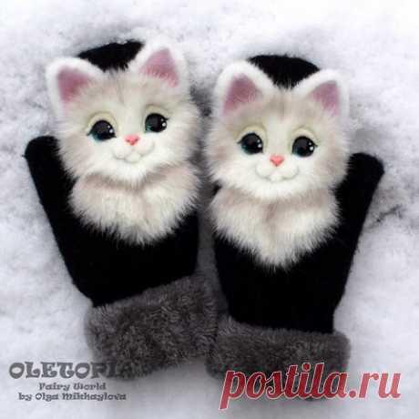 Супер рукавички, украшенные аппликацией из меха Супер рукавички, украшенные аппликацией из меха