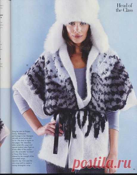 "Жакет спицами ""Оперенье"" из Vogue fall 2010"