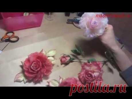 Мастер-класс Роза из ткани в японской технике (полный) и др.