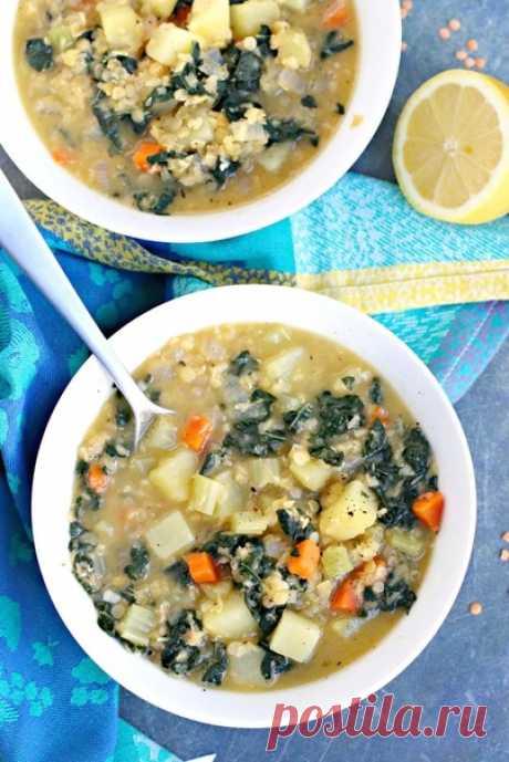 Суп из картофеля и чечевицы