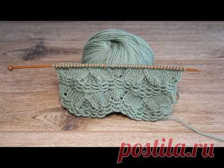 Волнистый узор спицами | Knitting wavy pattern
