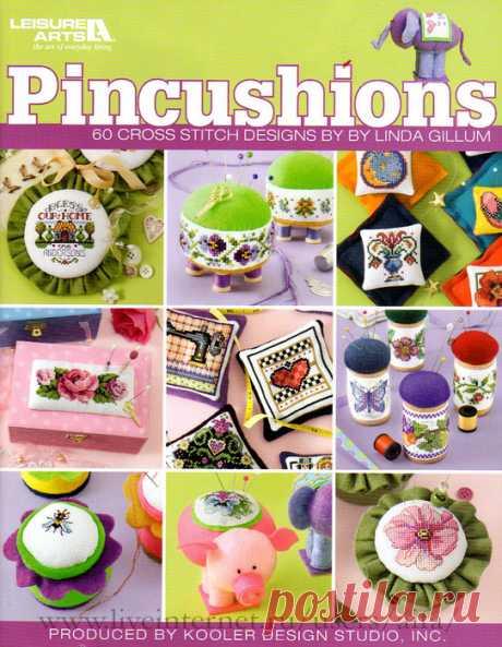 !!!Буклет вышивки крестом Pincushions. 60 Cross Stitch Designs by Linda Gillum