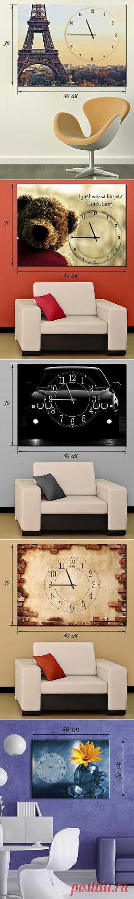 Удивительные часы-панно на стену освежают интерьер мгновенно, от 319 грн / Акции