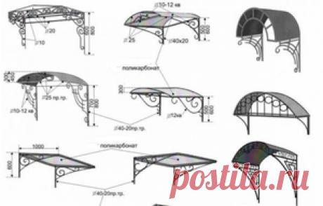 Как сделать козырёк над крыльцом своими руками: какой материал использовать, способы и нюансы изготовления