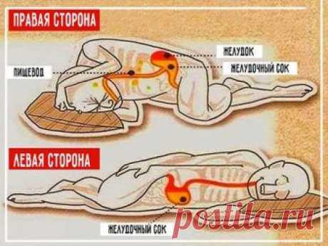 А вы знаете на каком боку правильно спать и почему?