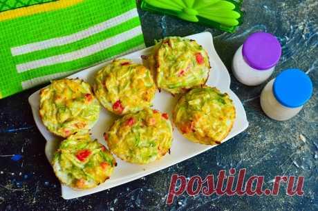 Кексы из кабачков с колбасой: рецепт с фото пошагово