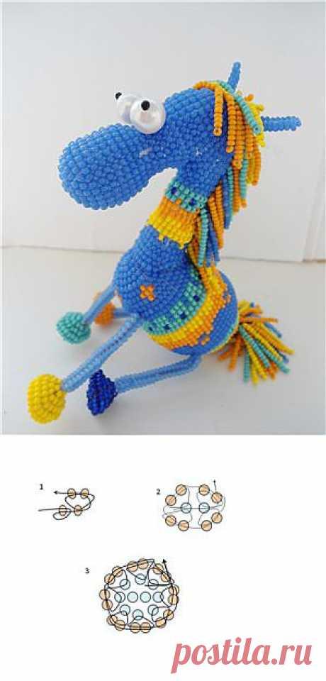 ЛОШАДКА (из бисера) / Разнообразные игрушки ручной работы / PassionForum - мастер-классы по рукоделию