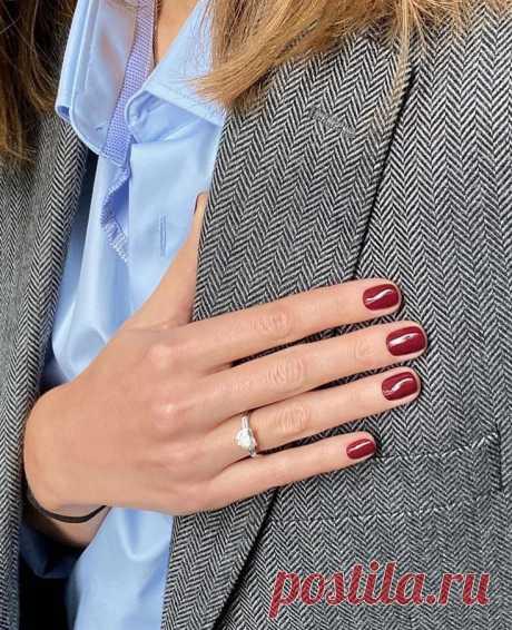 Какие ногти богатые женщины сейчас просят у неил-мастеров (простота в почете)