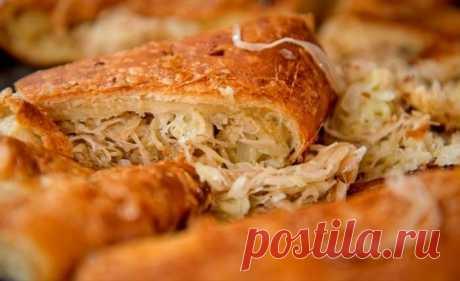 Постный пирог с капустой - рецепт с фото / Простые рецепты