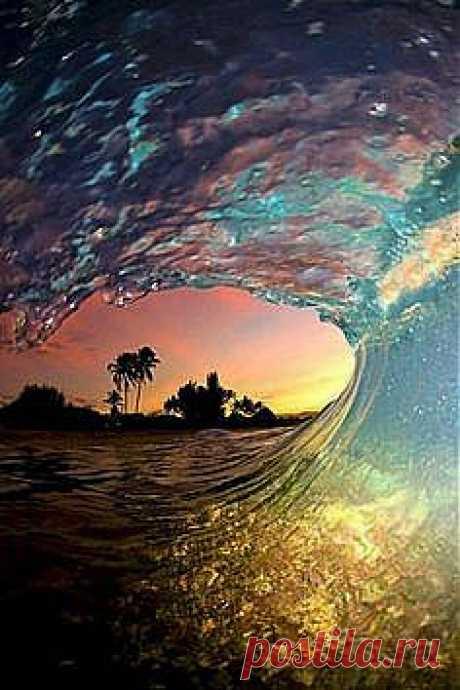 красные волны