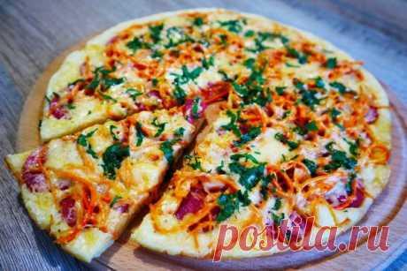 Пицца за 5 минут на сковороде! Самый быстрый рецепт!