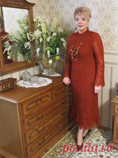 Мохеровое платье шетландским вязанием - Lilia Vignan шетландские узоры
