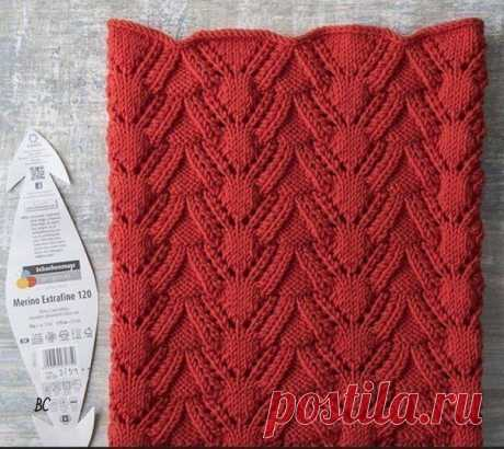 Красивый узор для снуда. Спицами. Схема. / knittingideas.ru