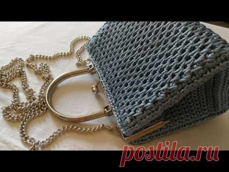 """VIDEO TUTORIAL Pochette """"STAR"""" Punto CANESTRO Allungato INCROCIATO / Mel C Bags Handmade"""