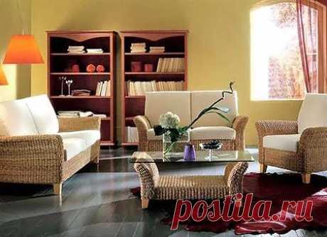 Как вписать плетеную мебель в интерьер — Квартирный вопрос