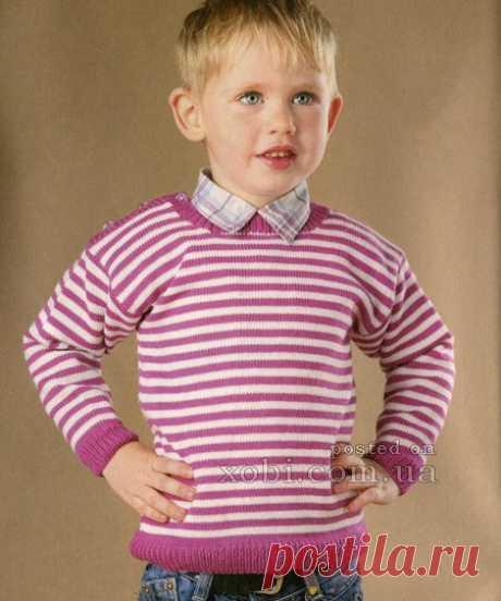 Детские пуловеры, свитера и джемпера вязаные спицами и крючком » Страница 5