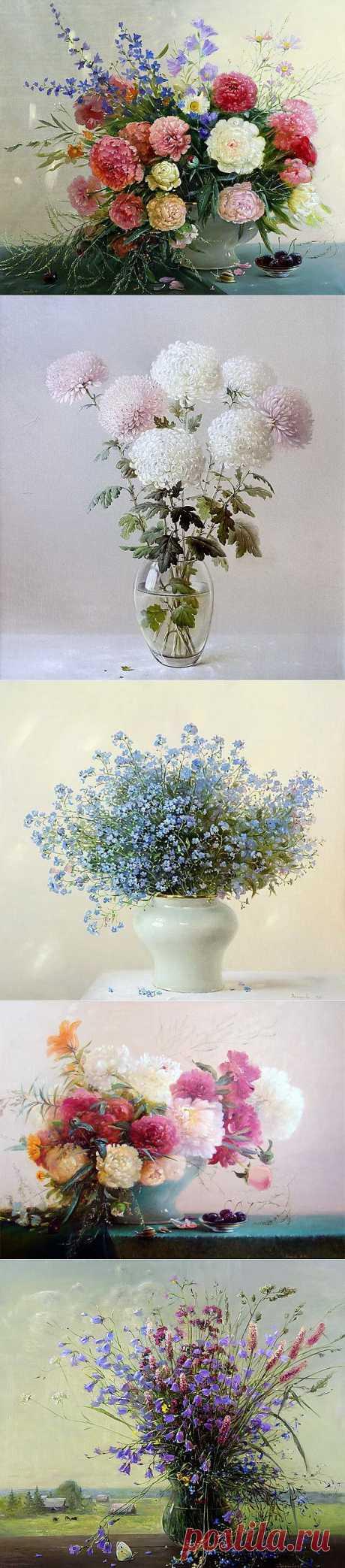 Цветочная тема в творчестве Марины Захаровой.