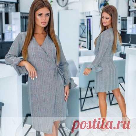Офисное платье в клетку купить недорого с доставкой