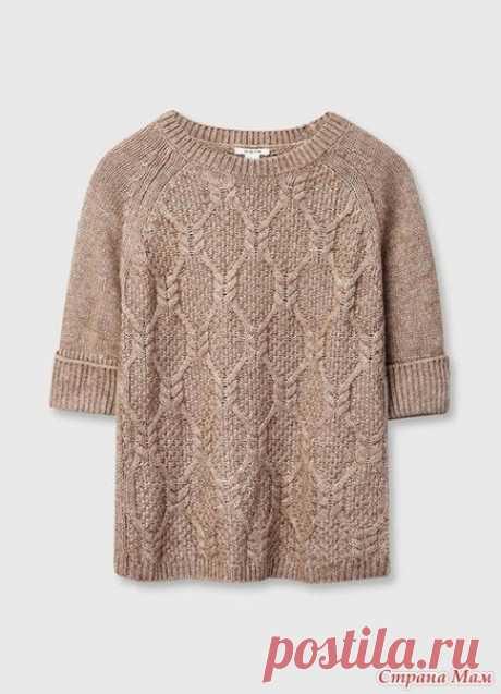 Пуловер спицами.