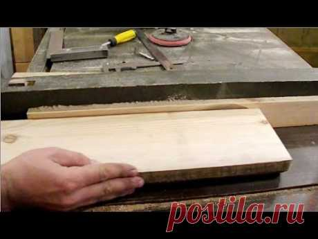 Как сделать простой фуганок из циркулярной пилы.