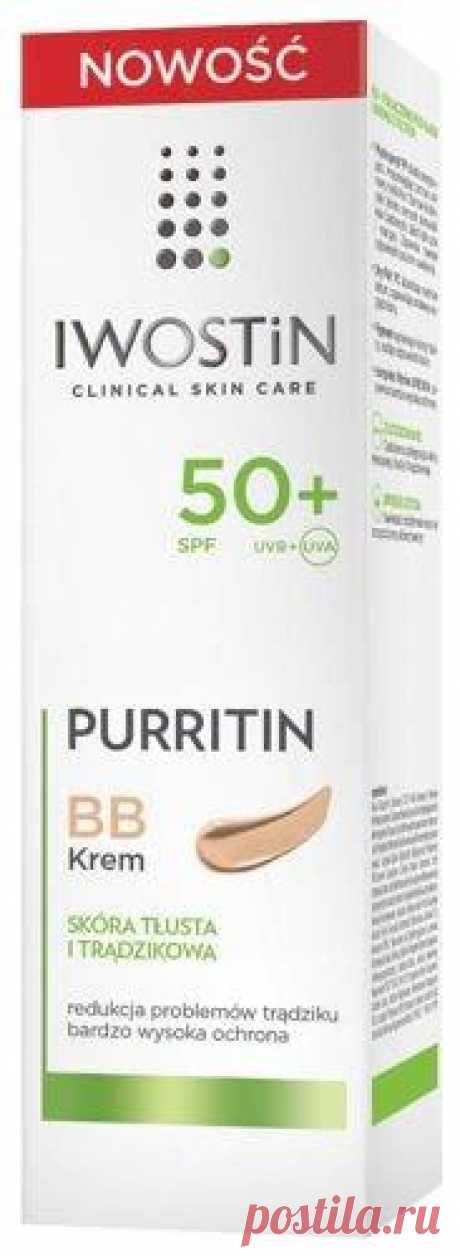 Iwostin Purritin BB Cream SPF50 + 30ml Iwostin Purritin BB Cream SPF50 + UK Formula specially created for oily and acne skin. Iwostin Purritin BB Cream SPF50 + provides a very high degree of sun protection