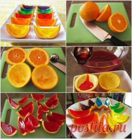 Как приготовить апельсиновое желе в апельсиновых корочках? — Полезные советы
