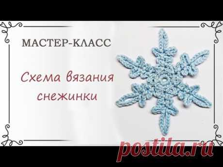 Схема вязания снежинки крючком с описанием