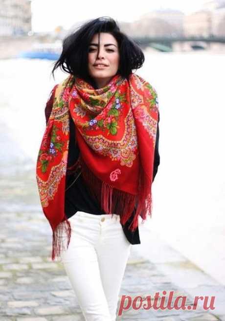 9 способов, как носить платок и выглядеть стильно и модно . Милая Я