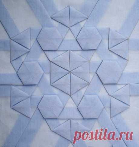 Фигурные буфы. Композиция из треугольников и шестиугольников | Выкройки одежды на pokroyka.ru