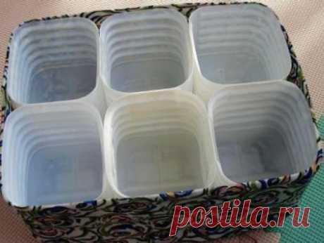 Ящик-органайзер из пластиковых бутылок
