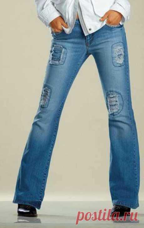 Какими нитками лучше строчить джинсы, и какой приём использовать, чтобы обходить толстые швы?