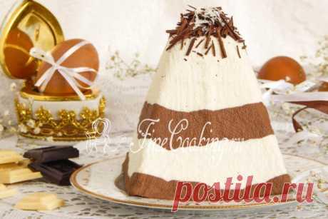 Полосатая шоколадная пасха - рецепт с фото