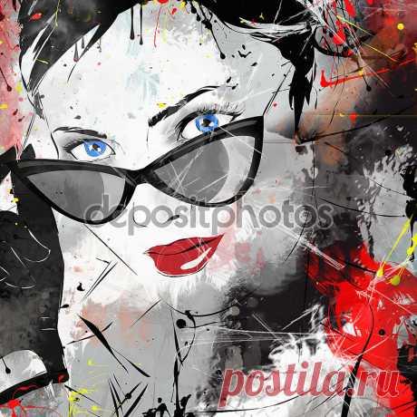 Фотообои «Fashion girl in sketch-style.», купить в интернет-магазине «Первое Ателье»™ Фотообои артикул 68562 для декора Вашего интерьера. ✔ Заказывайте! Оплата при получении. Недорого. Срок 1-2 дня. Цена и фото на сайте. ⛟ Быстрая доставка.