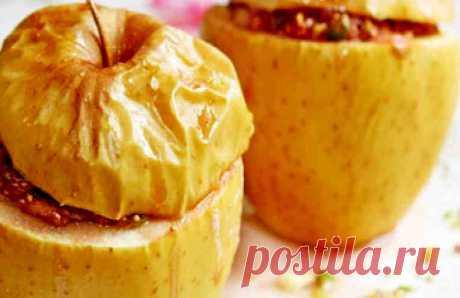 Вкусный десерт! Печёная антоновка с сухофруктами и орехами.