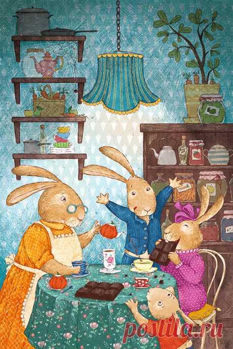 Иллюстрация зайцы. sallolia (Салль Ольга)