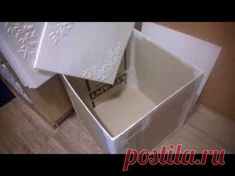 огромная красивая коробка из потолочных плит