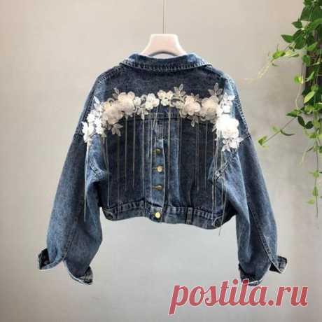 Весенний декор 5-ти джинсовых курток Модная одежда и дизайн интерьера своими руками