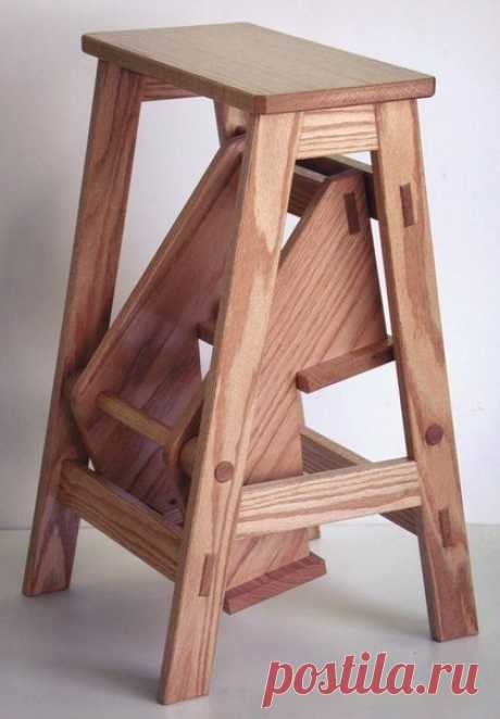 Stool ladder the hands (photo, drawings)