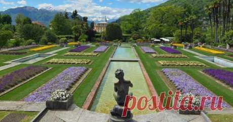 """Ботанический сад """"Вилла Таранто"""" в Италии"""
