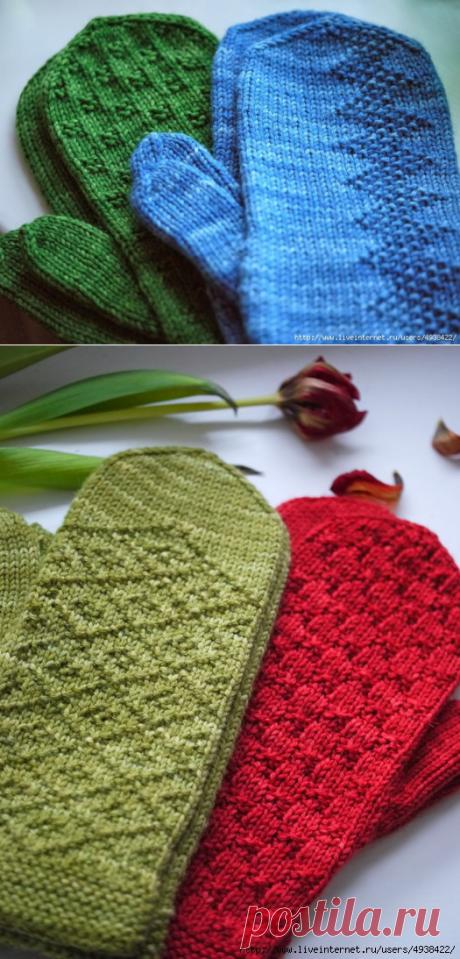 Варежки спицами. Просто и красиво - идеи для вязания.