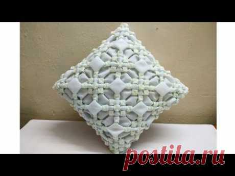 SMOCKING design  pattern cushion cover making back zipper cutting stitching at home in hindi cojin
