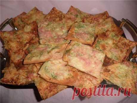 чипсы из лаваша с сыром и ветчиной