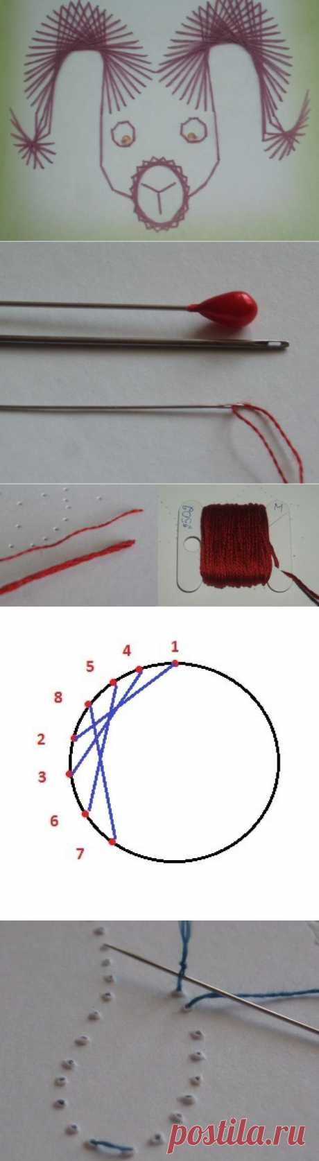 Вышиваем Овна в технике Изонить - Ярмарка Мастеров - ручная работа, handmade