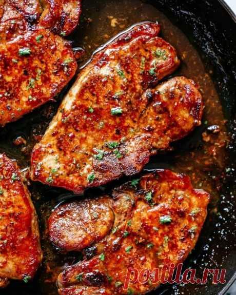 Свиные отбивные в кисло-сладкой глазури — Sloosh – кулинарные рецепты