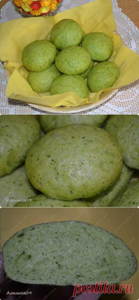 Постные паровые булочки со шпинатом | Страна Мастеров