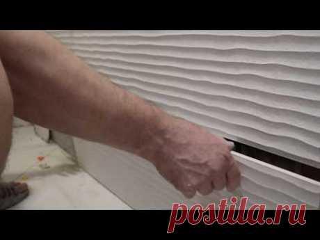Как рассчитать и уложить плитку на ПОЛ по диагонали в ванной комнате часть 2.