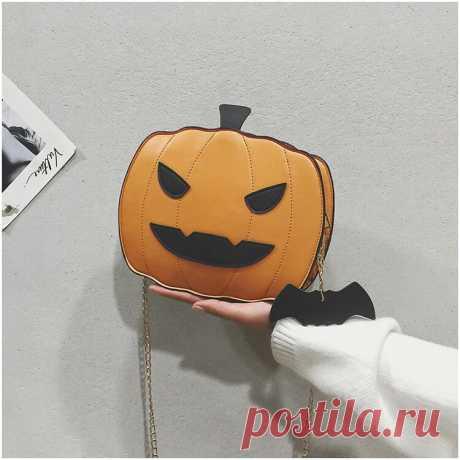 Women Patchwork Chains Halloween Pumpkin Bag Crossbody Bag - US$21.99